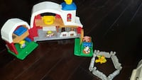 children's white and green plastic toy house 38 km