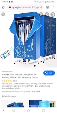 Portable dryer works great comes wit remote. $40
