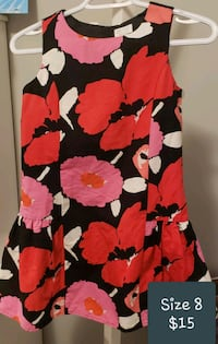 women's red and black floral sleeveless dress Calgary, T2X