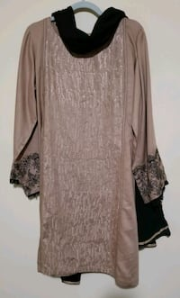 brown and black floral long sleeve dress Brampton, L7A 0B2