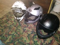 3 black, gray, n white BILT full-face helmets Houston, 77026