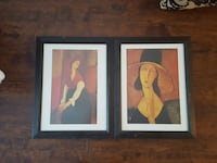two woman oil paintings