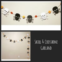 New Custom LONG Skull & Crossbones Garland Decor Farmers Branch, 75244