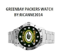 Green Bay Packers Custom Casual Stainless Steel Band Dress Wrist Watch Westminster