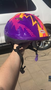 toddler's purple, pink, and yellow Bell bicycle helmet London, N6E 1V4
