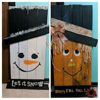 Snowman/scarecrow wood stand Shreveport, 71118