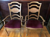 Set of 2 Captain Kitchen Dining / Side Chairs With Solid Wood Frame