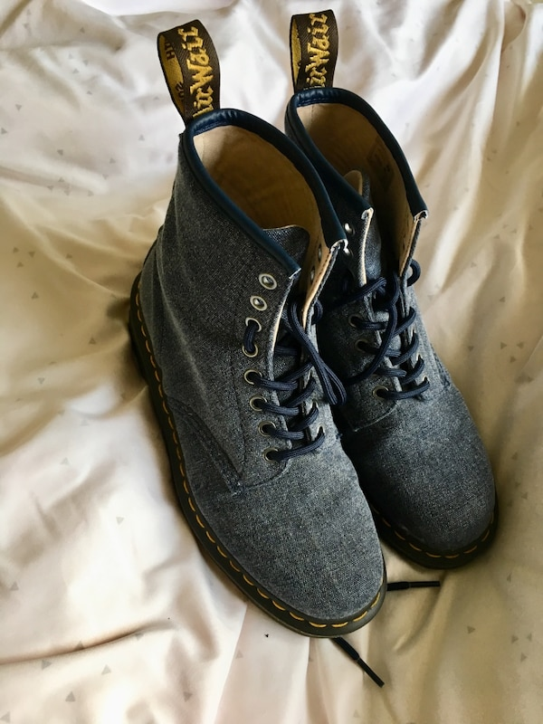 f8ad79c5 Used Blue canvas doc martens for sale in Asheville - letgo