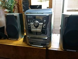 stereo,am,fm, turntable dual,cassette,3,cd player