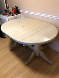 Solid oak double pedestal dining table