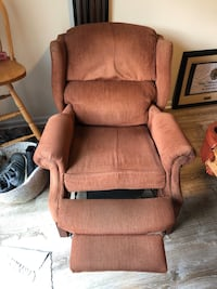 Brown fabric padded lazy-boy recliner Falls Church, 22042