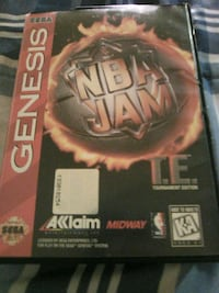 Sega Genesis Nba Jam tournament edition Washington