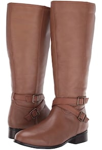 Trotters Wide Calf Boots 10.5 WW-BRAND NEW, Cognac Washington