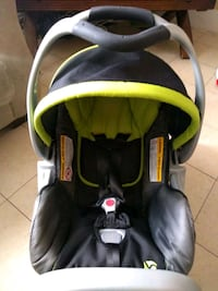 baby's black and green car seat carrier Edmonton, T5B 3H2