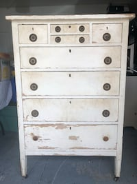 Antique Vintage Tallboy Dresser with Skelton Key 150 OBO Parrish, 34219