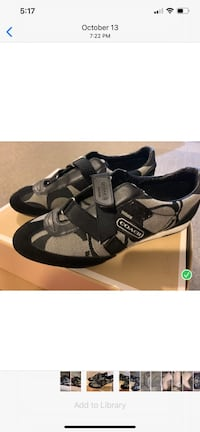 Brand new (worn only once) Coach black and white sneakers with Velcro