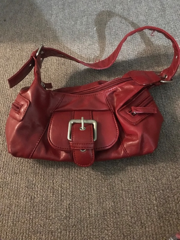 261a823f12fd Used Red leather purse for sale in Ottawa - letgo