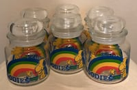 1965 Snoopy and Woodstock glass goodies jars, set of 6 Austin