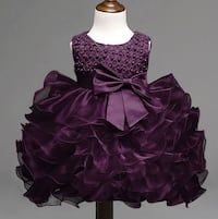 Purple Dress for 6 Months Baby Girl