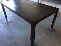 Rectangular espresso wooden dining table with leaf Edmonton, T5T 4E6
