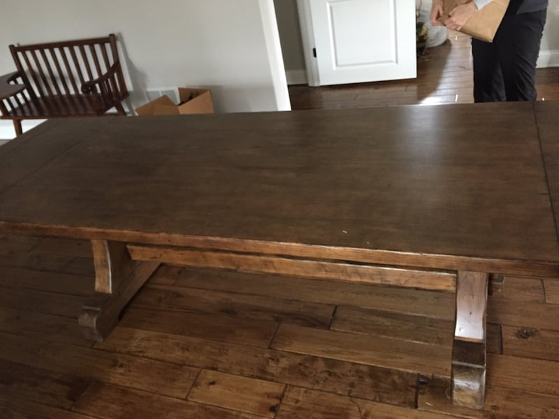 Sold Pottery Barn Large Table In Lockport Letgo