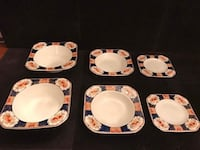 6 hand painted bowl 3 different sizes 2 of each  Toronto, M2R 3N1