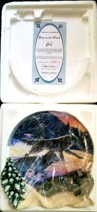 Realm Of The Wolf Collector's Plates Anchorage, 99502
