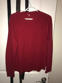 red scoop-neck long-sleeved shirt Halifax