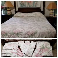 King Size Bed Cover with matching curtains Bowie, 20715