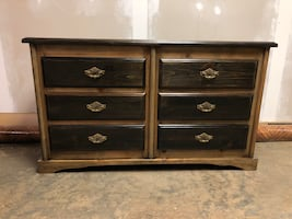 Vintage Maple Dresser Six Chest Of Drawers