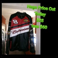 black and red zip-up jacket Bakersfield, 93304