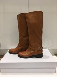 New COGNAC LEATHER RIDING BOOTS (NWB), Size 7 Mississauga, L5E 2S3