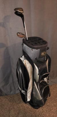 Golf bag ( with the clubs ) it has a little rip but it's not really noticeable, I'll throw in the golf balls too Hamilton, 45011