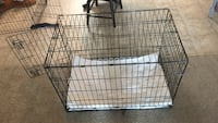 black metal folding dog crate Victor, 14564