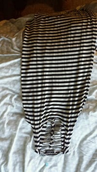 black and white stripe sleeveless dress Calgary, T1Y 2S2