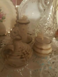 CERAMIC OIL LAMPS 2 piece set