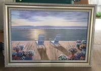 Silver Framed Sunset painting 961 mi