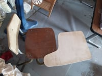 brown wooden framed white padded armchair Jefferson City