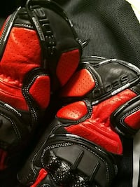 black and red leather gloves Seattle