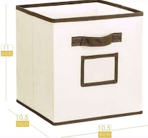 4 foldable fabric storage cubes