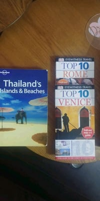 Travel guides to Thailand, Venice, and Rome