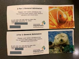 Vancouver Aquarium coupon 2 for 1