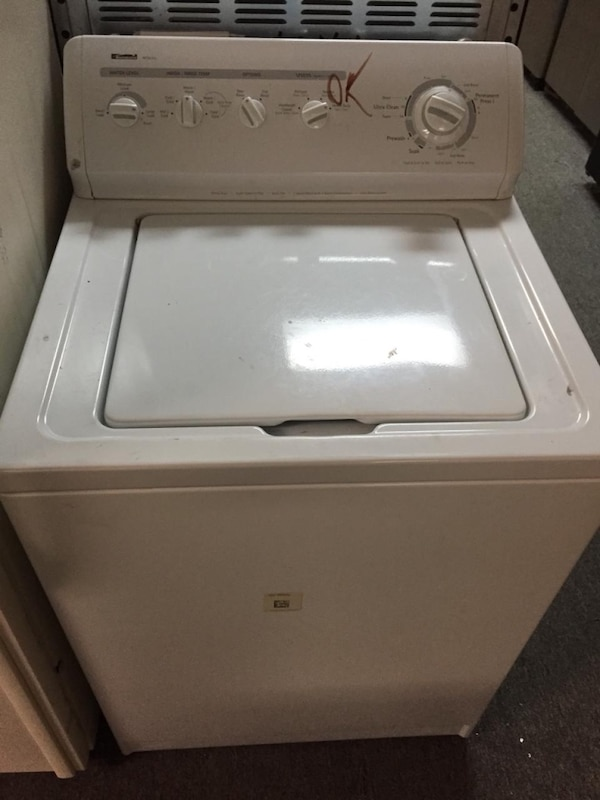 Kenmore top load washer dryer set with warranty