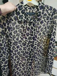 French Connection leopard print shirt sheer small Greater Manchester, WN7 5LU