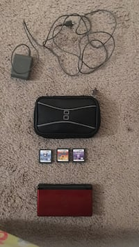 red Nintendo DS console set