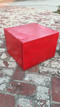 Red Wooden 2-drawer Chest