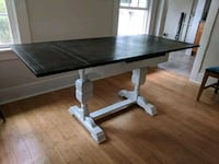 Refinished Vintage Farmhouse Style Dining Table Beverly Hills