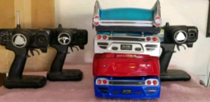 RC CAR BODIES AND REMOTES