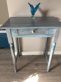 Radical Restored, Vintage, antique blue hall table  Calgary, T3Z 0Z7