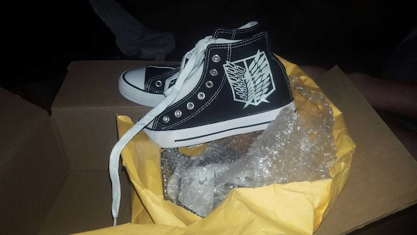 cc1918cb33b832 Used 2 pairs of Black Converse size  6 BRANDNEW for sale in Saint ...